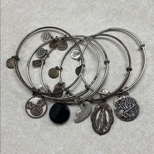*BUNDLE* Alex & Ani | 5 Silver Charm Bangle
